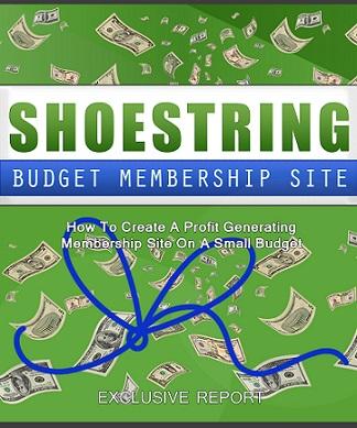 Shoestring Budget Membership Site 1
