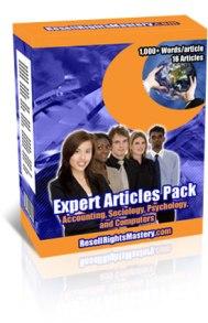 Expert PLR Articles Pack 7