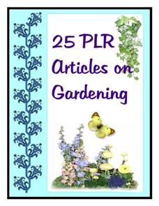 25 PLR Gardening Articles 4