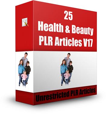 Health & Beauty PLR Articles Vol. 17 3