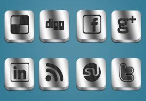 Metallic-Social-Media-Icons