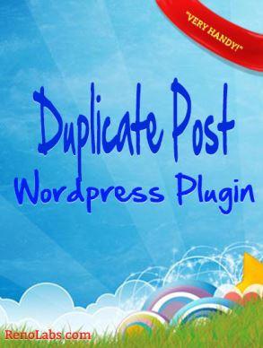 Wordpress Duplicate Post Plugin